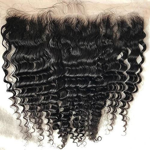 Raw Cambodian Deep Curly Frontal (HD)