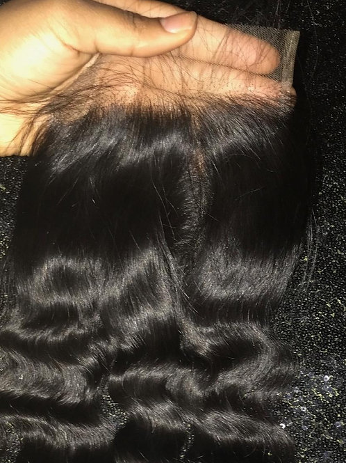 Raw Cambodian Loose Curly Closure