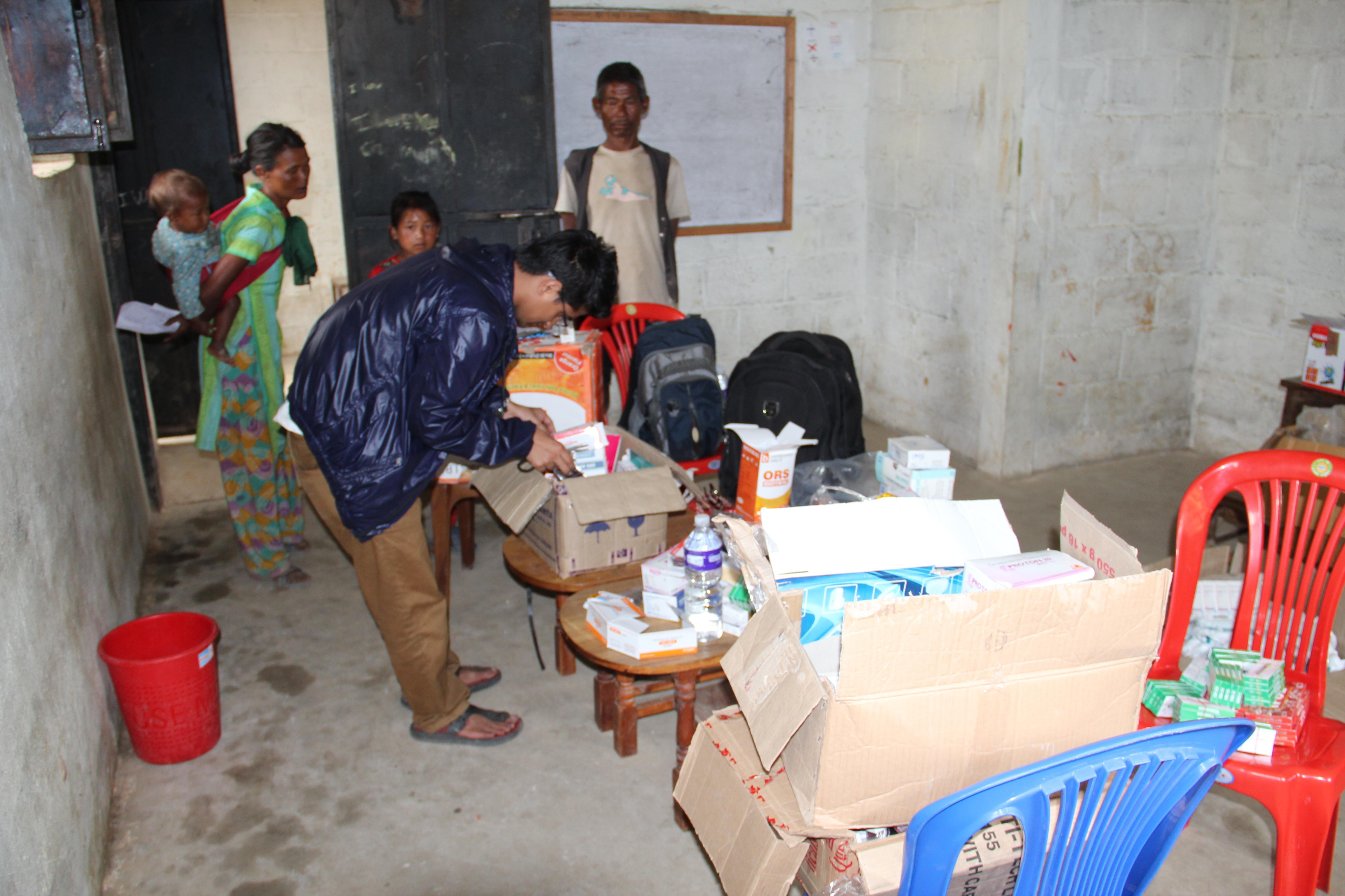 medicine in health camp
