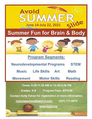 Summer Fun for Brain & Body Flyer 2021.j
