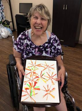 proud of her artwork