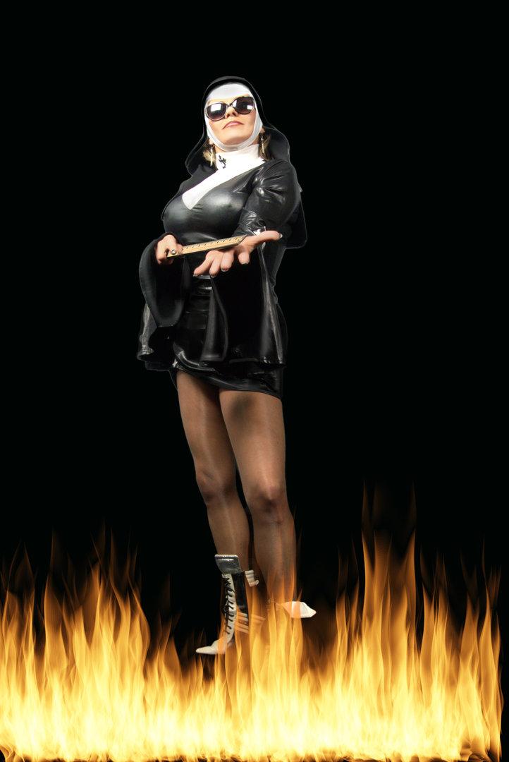 Priestess Paine doing Fantasy Role Play As a Nun