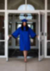 Senior graduate opening doors of Tuscarora high school