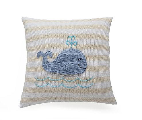 Whale Pillow 10 x 10