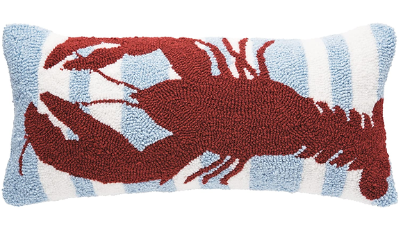 Striped Lobster Pillow