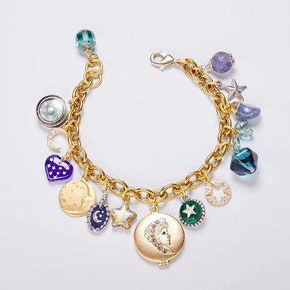 """""""Woman in the Moon"""" Charm Bracelet"""