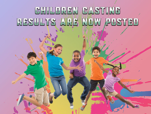 Children's Casting Call Results are in!