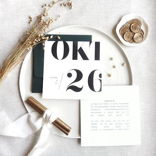 minimalist davetiye
