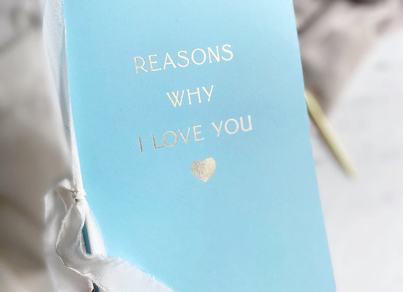 Reasons Why I Love You Defter - Sky Blue