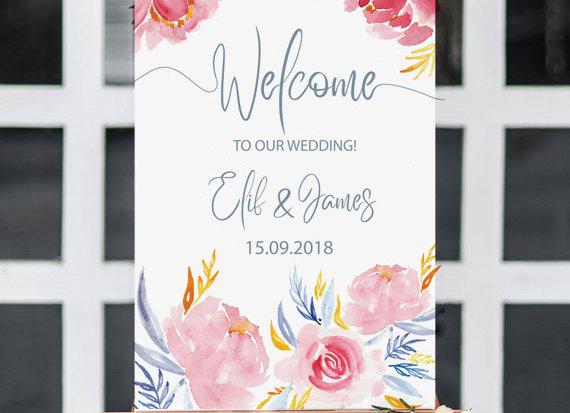 düğün karşılama panosu