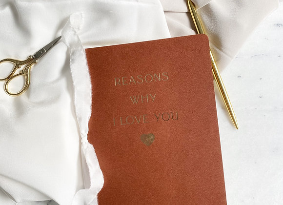 Reasons Why I Love You Defter - Vintage