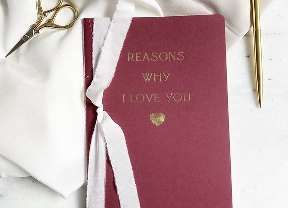 Reasons Why I Love You Defter - Merlot