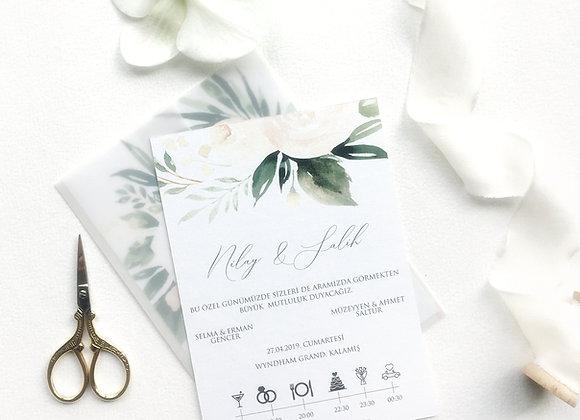 çiçekli davetiye