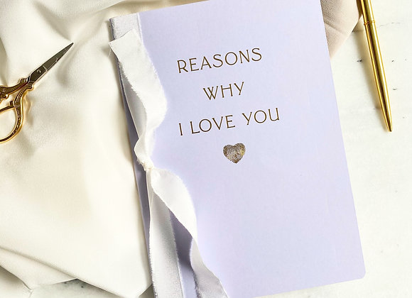 Reasons Why I Love You Defter - Lavender