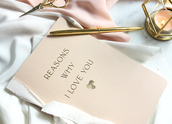 Reasons Why I Love You Defter - Blush