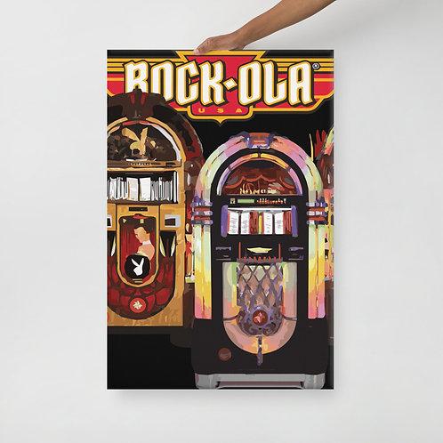 Rock-Ola Jukebox Stretch Canvas 2