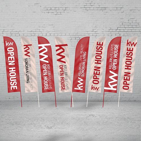 Keller Williams Feathered Flags