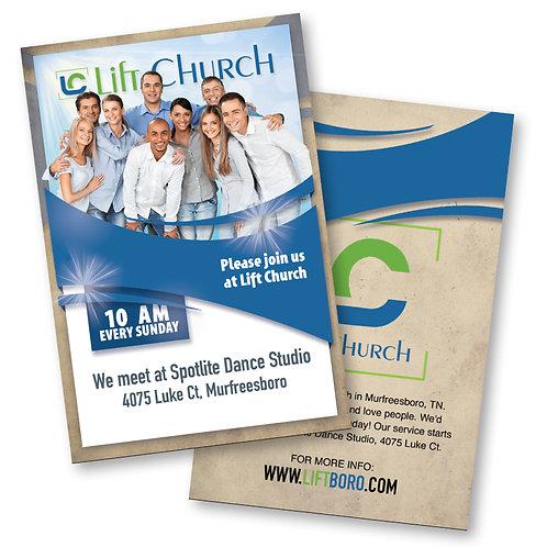 "Lift Church Invite Postcards 4""x6"" 16pt"