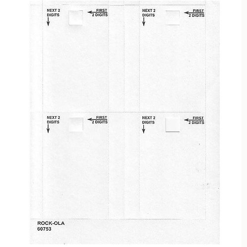 Single Title Cards - 50 Sheet Set