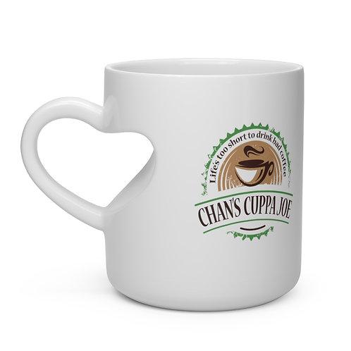 """Chan's Cuppa Joe """"I Heart You"""" Heart Shape Mug"""