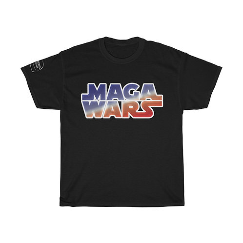 MAGA WARS Colored Logo Guys & Gals Heavy Cotton Tee