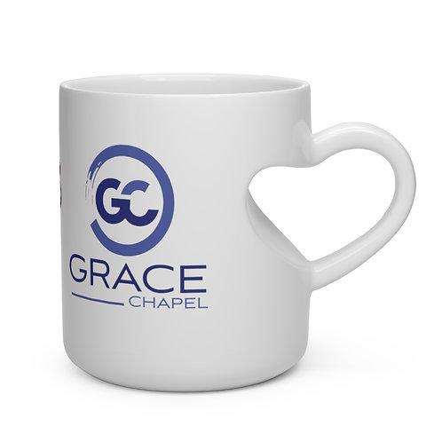 Grace Chapel I Heart You Heart Shape Mug