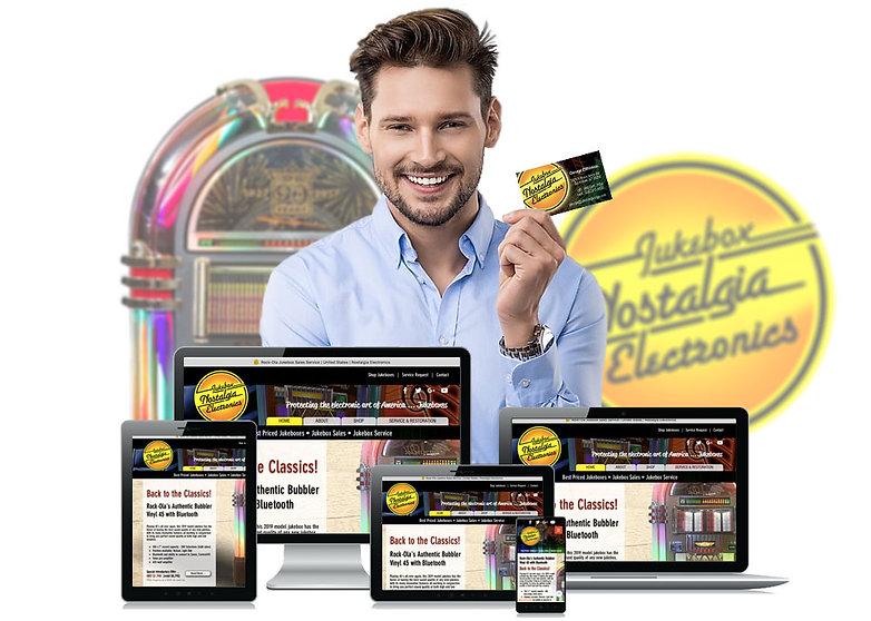 man computers ecommerce design branding