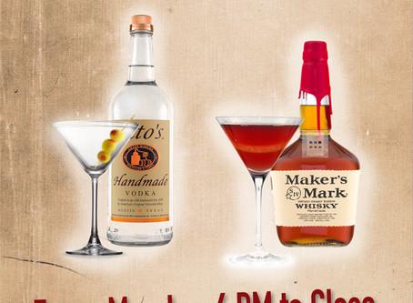 Monday Night Martini's & Manhattan's