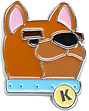 Overcooked Kevin the Dog Pin