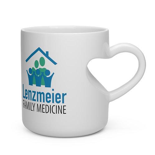 Lenzmeier Family Medicine Heart Shape Mug