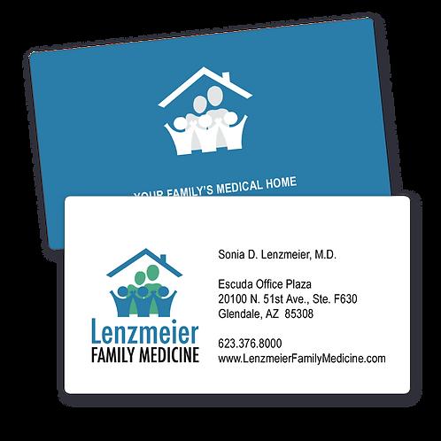 Lenzmeier Family Medicine Business Cards