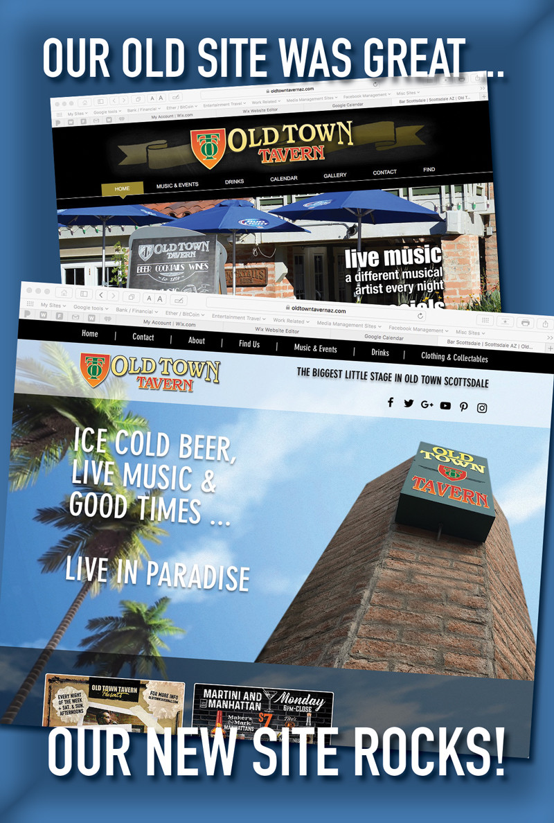 Old Town Tavern 2017 Web Site Design