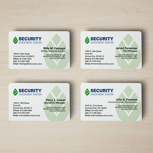 Security Investment Business Cards
