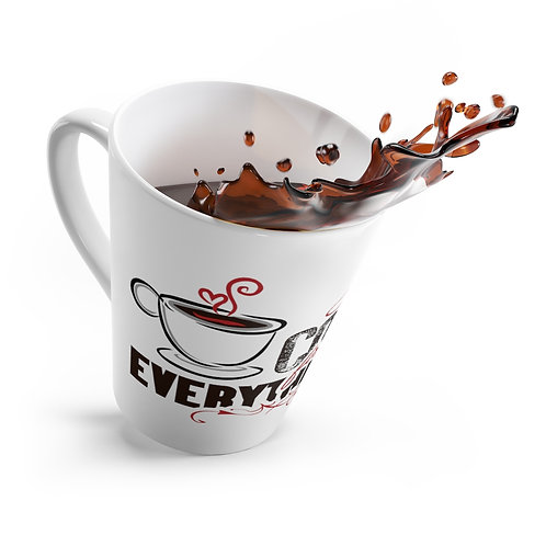 """Coffee First"" Latte mug"