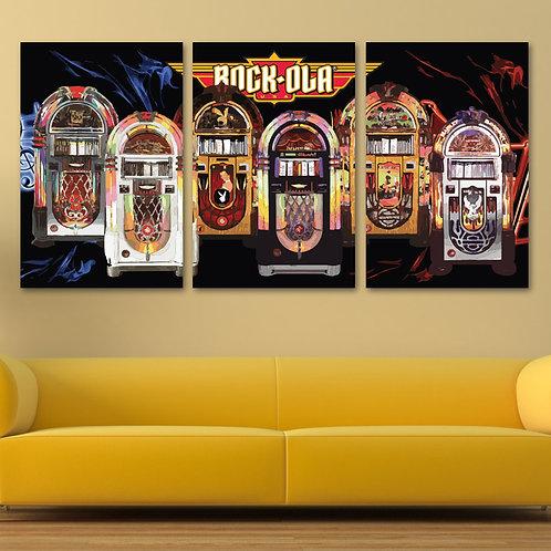 3-Panel Stretch Canvas Jukebox Art