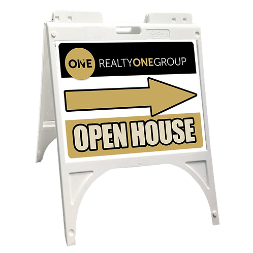 RealtyONEGroup Plastic Open House Sidewalk Sign