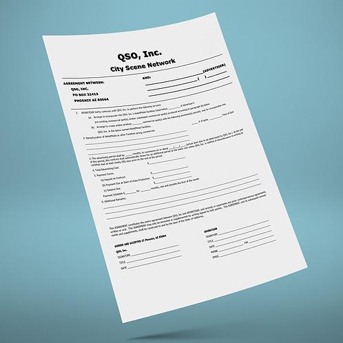 City Scene NCR Agreement Form