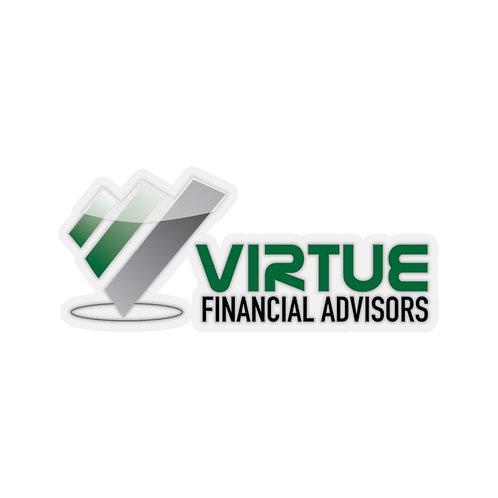 Virtue Financial Kiss-Cut Stickers