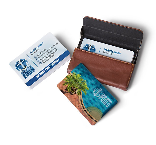 Clean Bottom Pools Business Cards