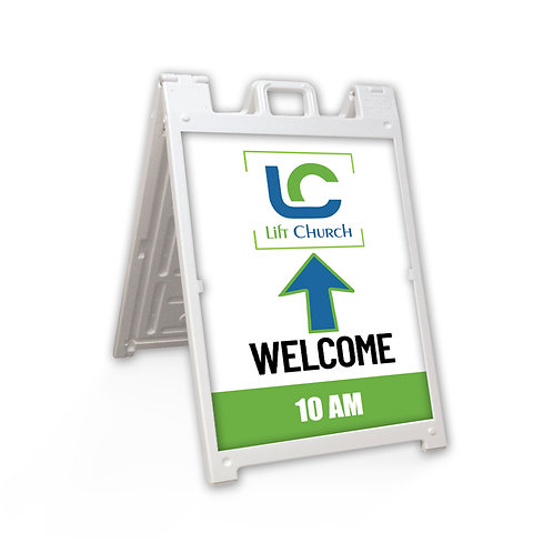 "Lift Church Plastic Deluxe Sidewalk Sign 24"" x 36"""