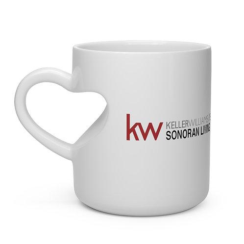 Keller Williams Sonoran Living Heart Shape Mug