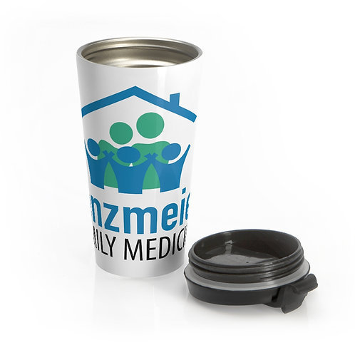 Lenzmeier Family Medicine Large Logo Stainless Steel Travel Mug