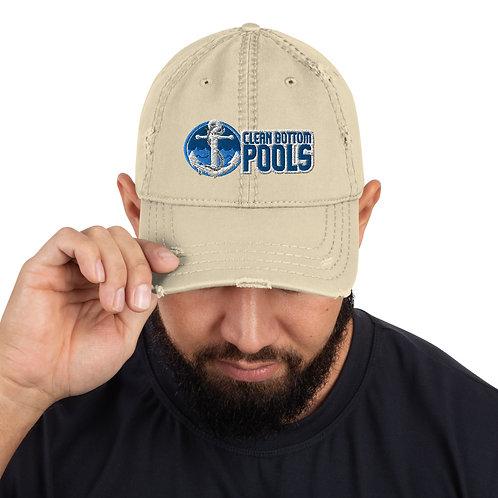 Clean Bottom Pools Distressed Dad Hat