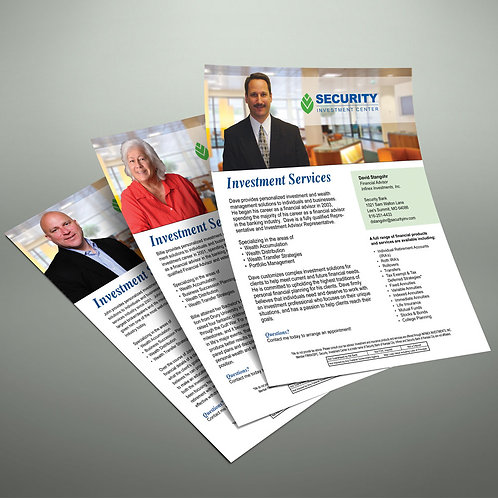 Security Investment Bio Sheets