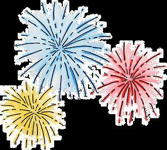 fireworks transparent art