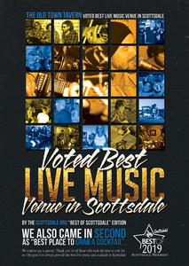 Voted Best Live Music Venue in Scottsdale