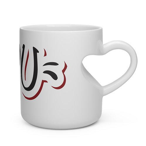 """""""I Heart You"""" Heart Shape Mug"""