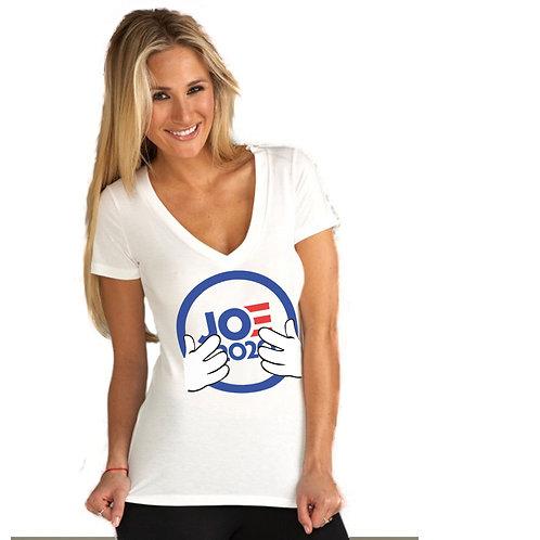 Joe2020 Collectable Women's Jersey Short Sleeve Deep V-Neck Tee