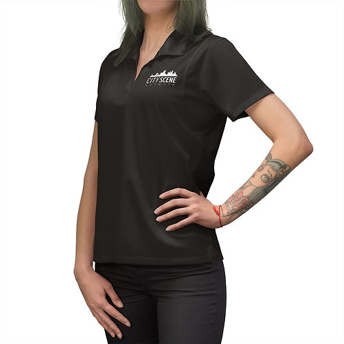 City Scene Embroidered Women's Polo Shirt
