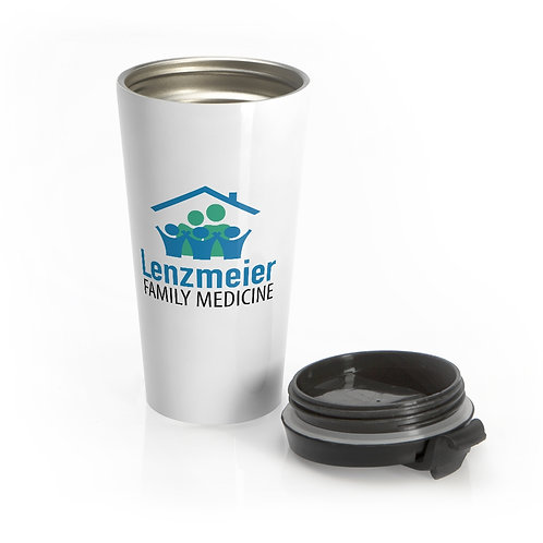Lenzmeier Family Medicine Small Logo Stainless Steel Travel Mug